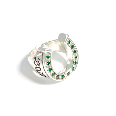 Horseshoe Ring with Stones (Custom)