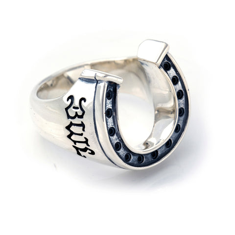 Horseshoe Ring Silver - Large