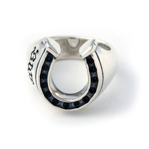 Horseshoe Ring Silver - Medium