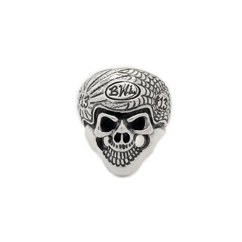 BWL Engraved Helmet Skull Ring