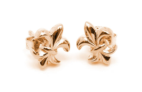 Fleur De Lis Earrings 18k Gold