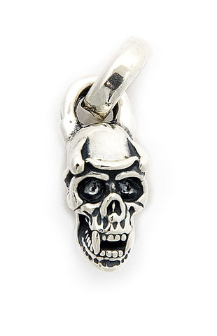 Skull with Helmet and Horns Pendant