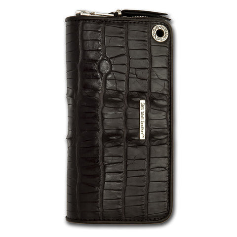 Medium Zipper Wallet in Alligator tail Leather