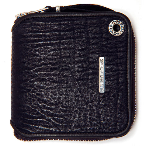 Square Zipper Wallet in Sharkskin