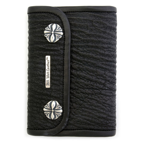 Medium Wallet for Large Currency in Shark Skin Leather