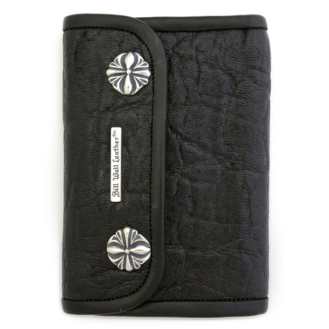 Medium Wallet for Large Currency in Elephant Leather