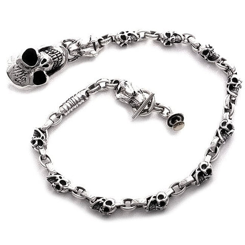 Good Luck Skulls and Dog Head Wallet Chain