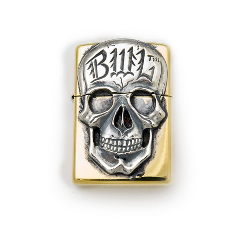 Brass Lighter with BWL Skull