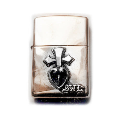 Lighter with Pierced Heart