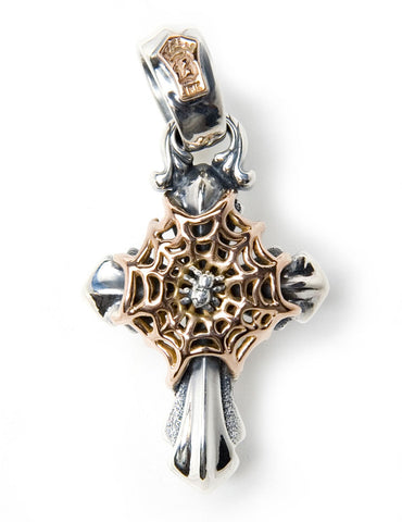 2005 Cross with 18k Web and Silver Spider