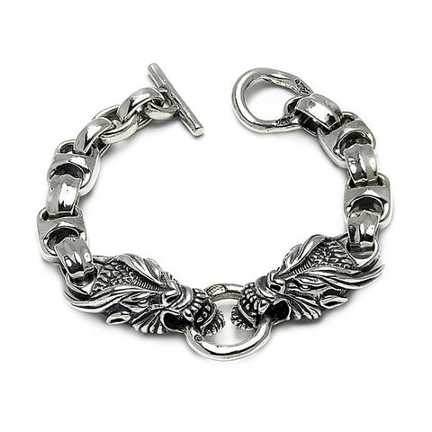 Dragon with Hide Link Bracelet