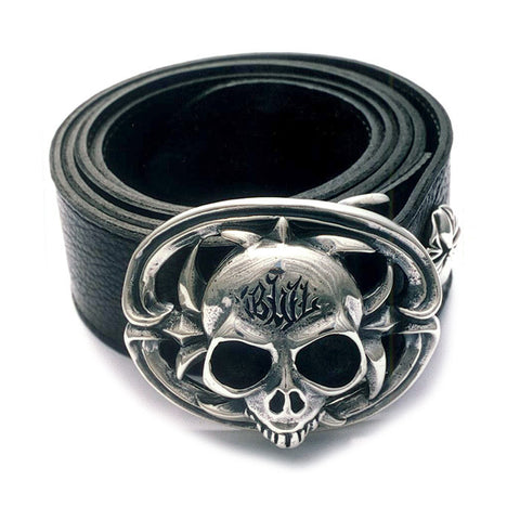 Sterling Skull Belt Buckle
