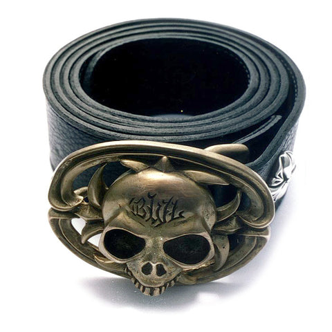 Bronze BWL Skull Belt Buckle