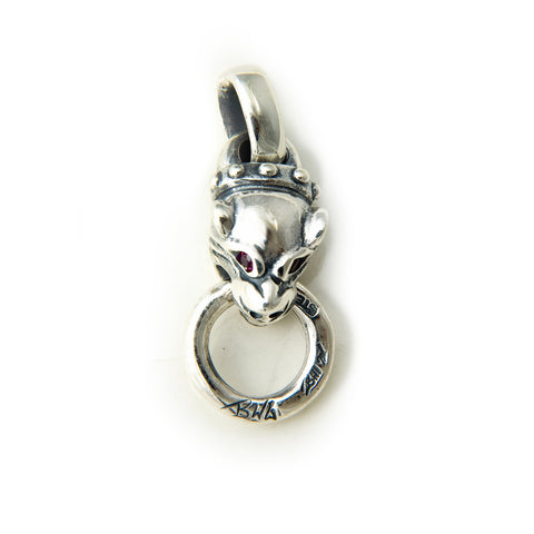 30th Anniversary Vintage Panther with Gemstone Eyes Charm