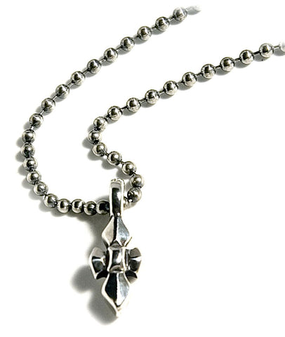 """C"" Cross Charm with Ball Chain"
