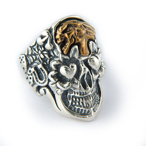 Jeff Decker-Designed Skull with Screaming Skull Ring