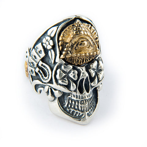Jeff Decker-Designed Skull with Eye Ring