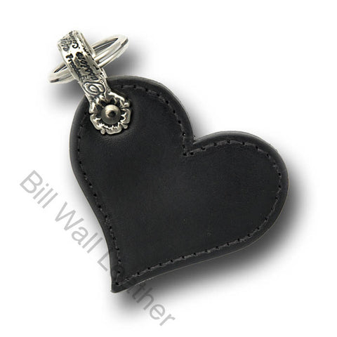 Plain Leather Heart Shaped Key Chain