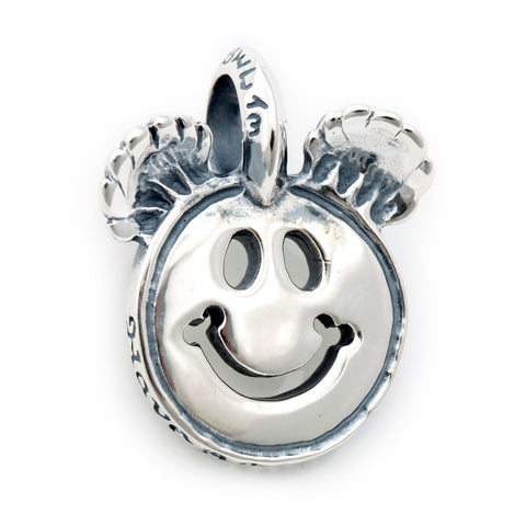 Happy Face Charm with Bear Ears