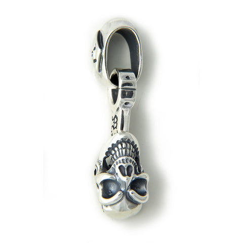 30th Anniversary Piston with Skull Pendant