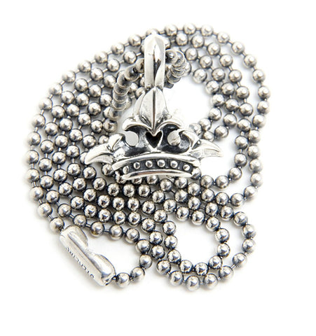 Crown Charm with 2mm Ball Chain