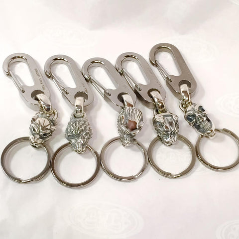 Titanium-Sliver Hybrid Medium Key Chain