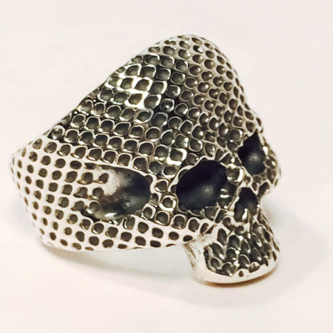 Large Forehead Skull Ring Mesh