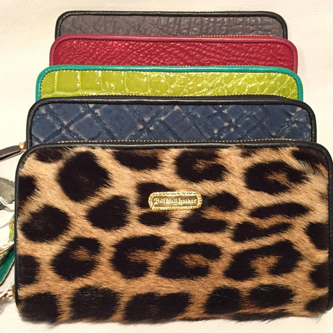 Large Zipper Wallet in Vintage Leopard Fur 50+ years old