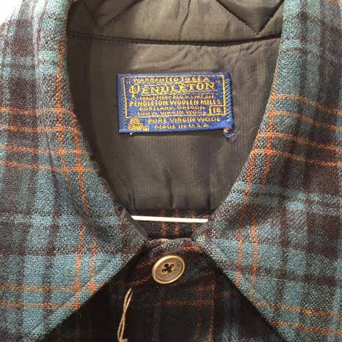 Pendleton Shirt Vintage Silver and Brass Buttons