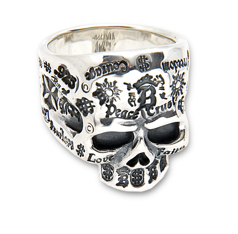 Large Forehead Skull Ring Graffiti