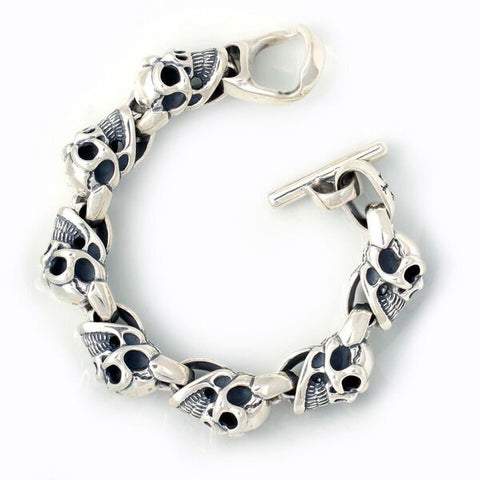 Extra Large Good Luck Skull Bracelet long