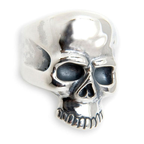 "Large Forehead Skull Ring with ""B"" Crown Stamp"