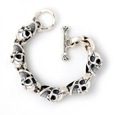 Large Good Luck Skull Bracelet