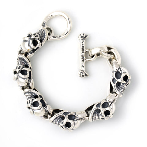 Mid Good Luck Skull Bracelet