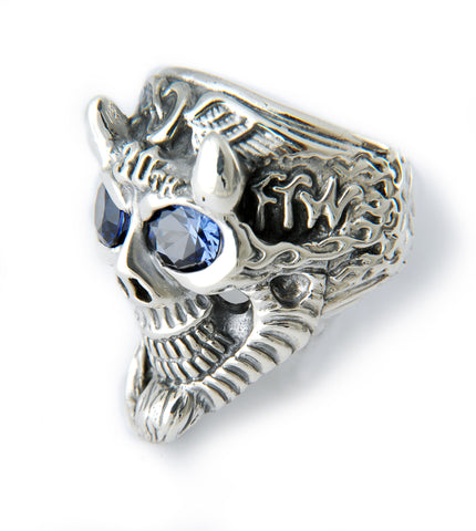 Flying Tire 30th Anniversary Ring w/birthstones