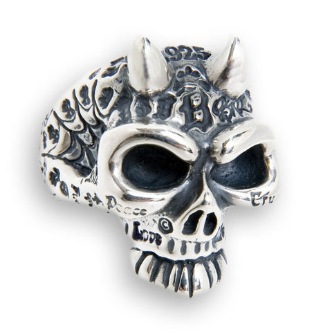 Graffiti Master Half-Skull Ring w/horns