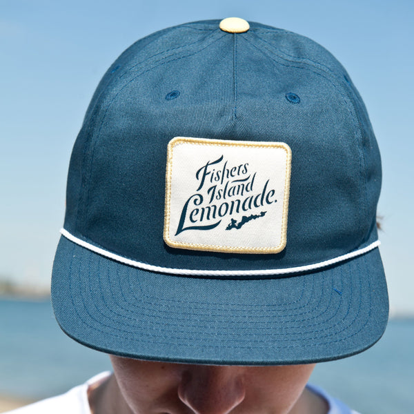 FIL Flat Brim Map Hat - Blue