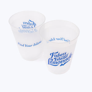 Frosted Plastic Cups - 25 pack