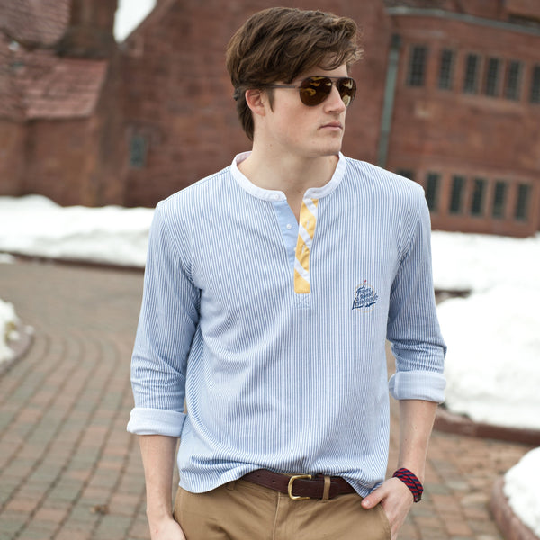 FIL Henley Oxford Shirt