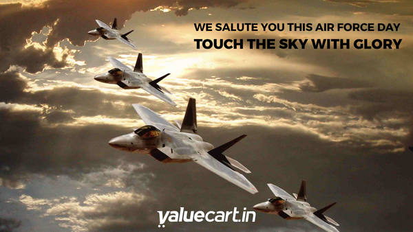 We salute our air force personnel on 83rd ‪#‎IAFDay‬ . We thank them for their service, courage & determination.