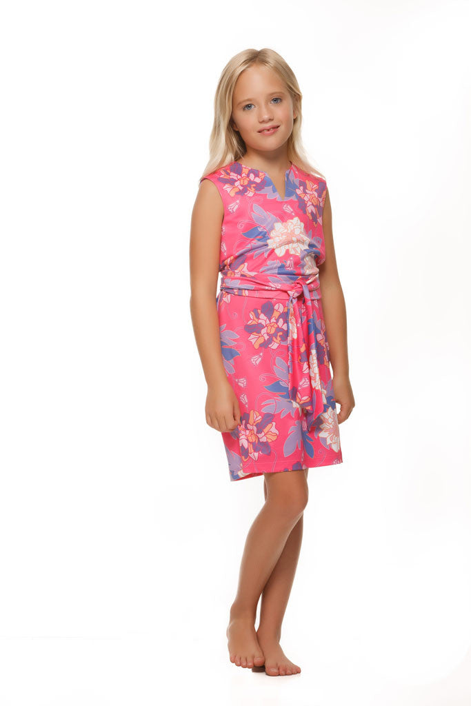 Heidi Dress in Pink Hawaiian - Rulon Reed