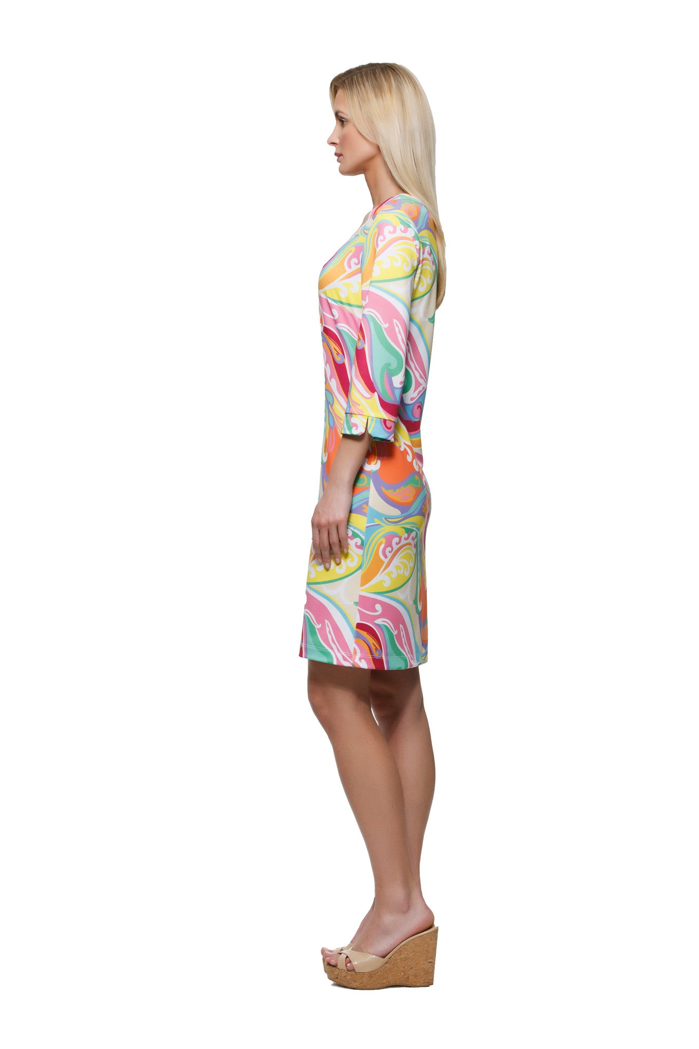 Julia Dress in Wave - Rulon Reed
