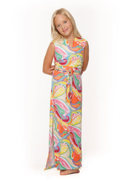 Katie girls maxi dress by Rulon Reed