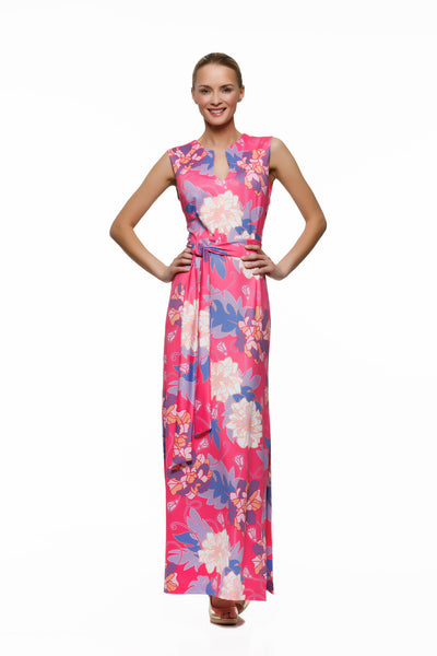 Morgan Maxi Dress in Pink Hawaiian - Rulon Reed