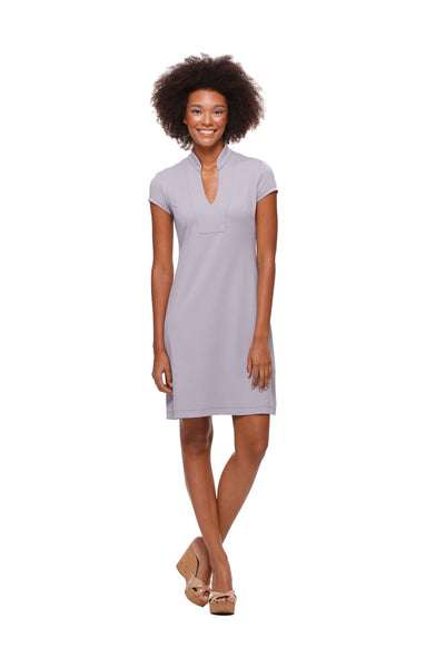 Silver Parker Cap Sleeve Dress for Women by Rulon Reed