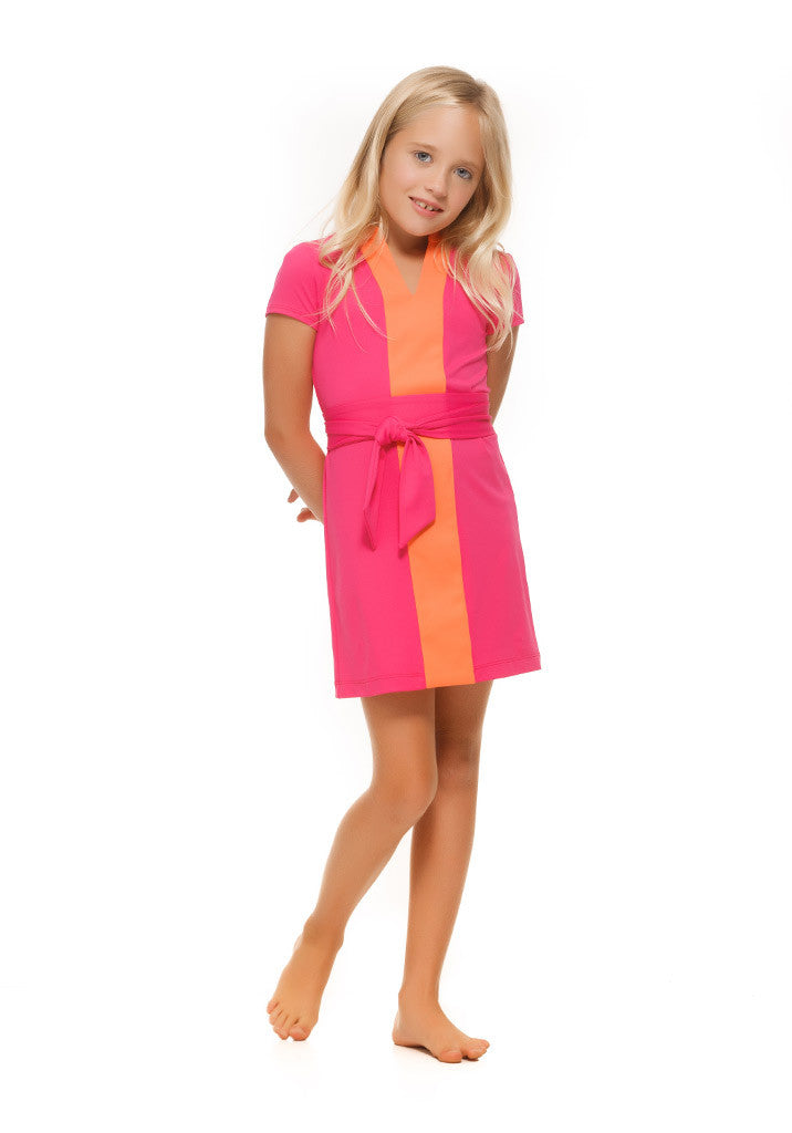 Piper in Orange and Pink Color Block - Rulon Reed