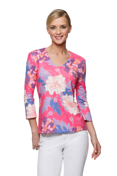 Thayer Top in Pink Hawaiian