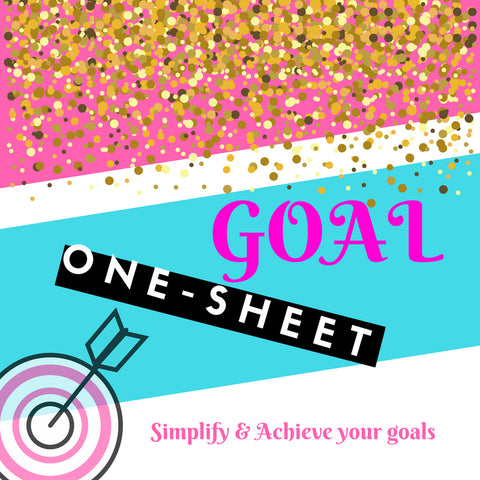 Goal One-Sheet (SOLD OUT)