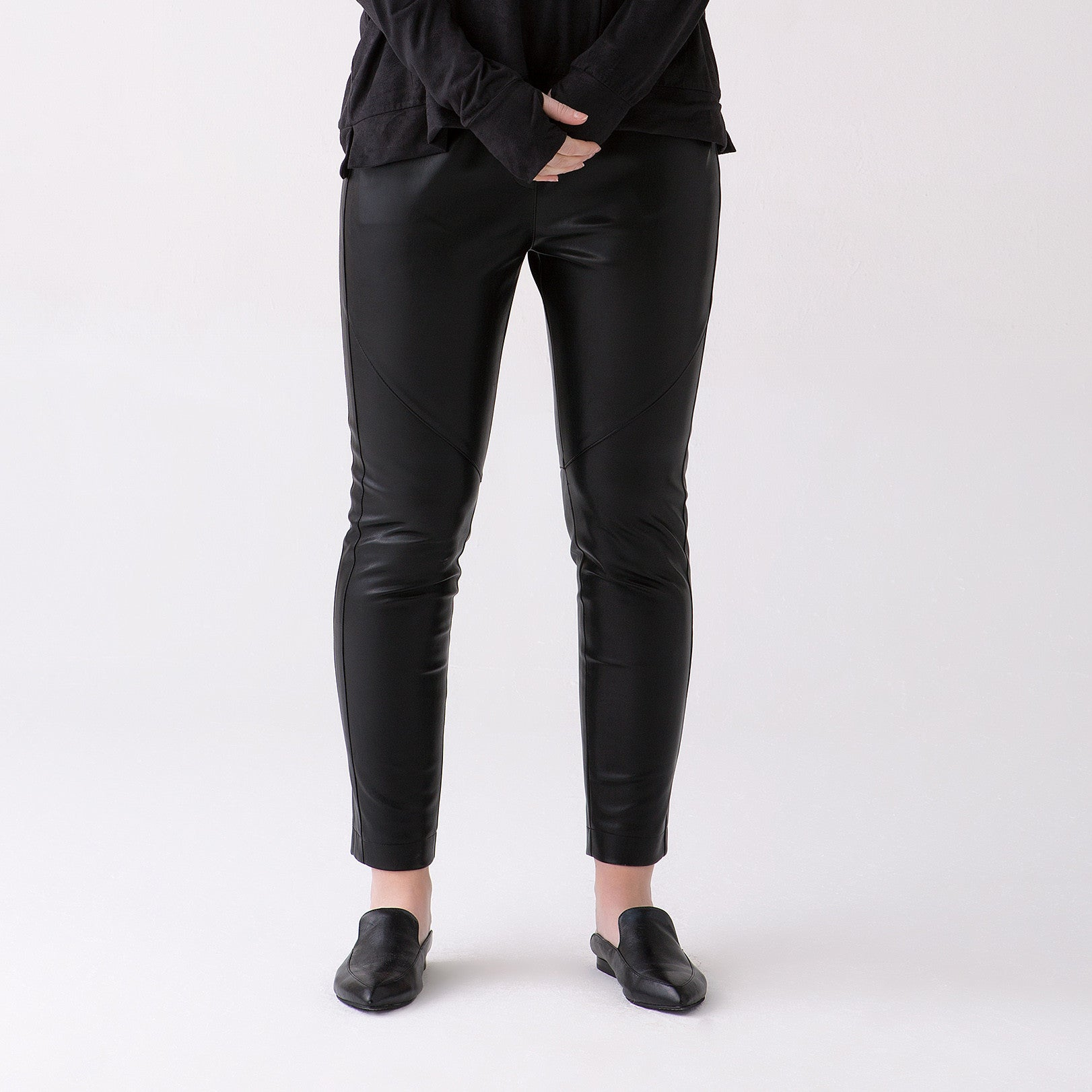 Plus Size Vegan Leather Skinny Pants
