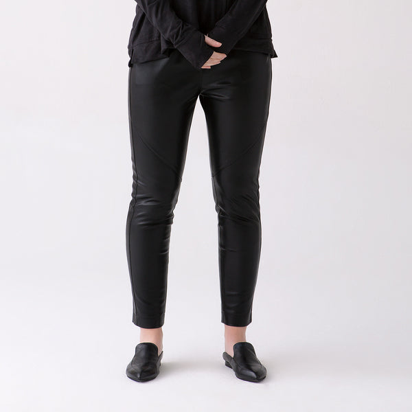 Ava Pull On Vegan leather Pants